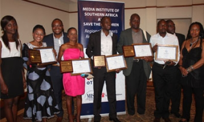 Winners of MISA Children's Reporting Awards for Southern Africa