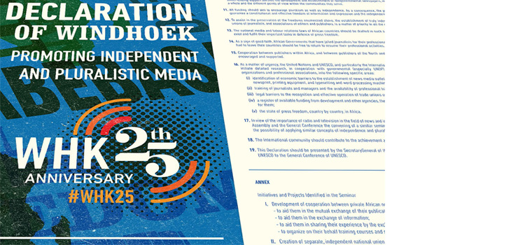 MISA launches website; free content for media to celebrate 25 Yrs of Windhoek Declaration