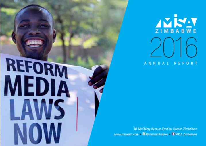 MISA Zimbabwe Annual Report highlights pitfalls in freedom of expression and access to information in Zimbabwe