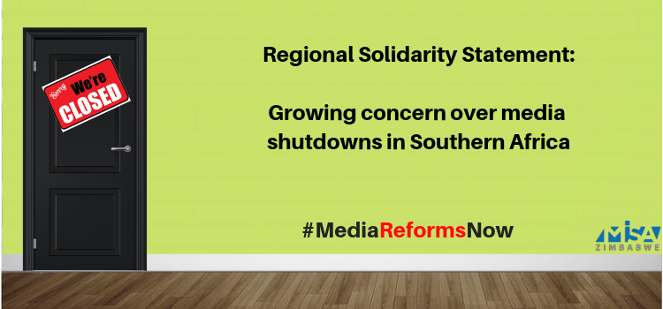 Growing concern over media shutdowns in Southern Africa