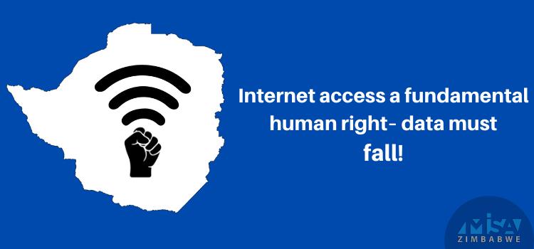 Internet access a fundamental human right– data must fall!