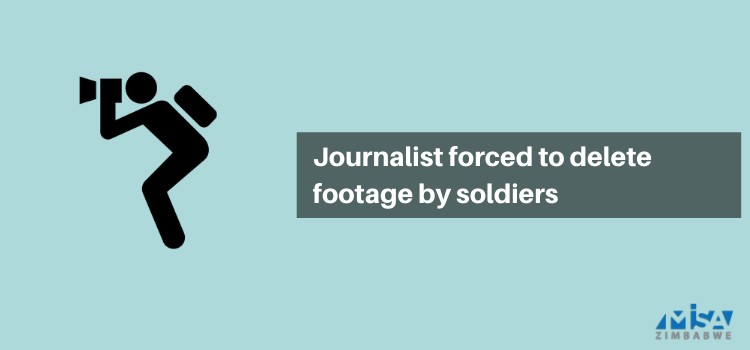 Journalist forced to delete footage by soldiers