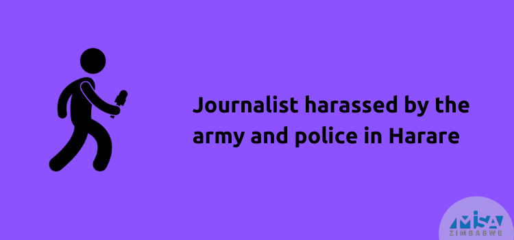 Journalist harassed by the army and police in Harare