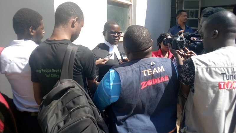Victory: Lawyer for MISA Malawi & media houses talks to media after the ruling
