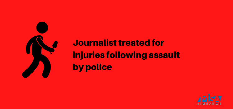 Journalist treated for injuries following assault by police