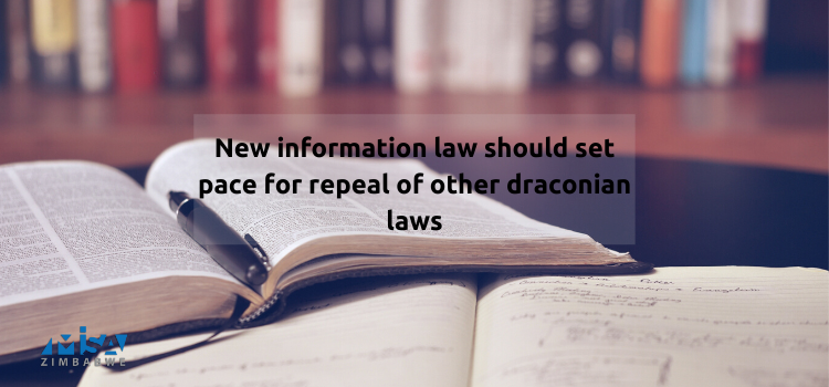 New information law should set pace for repeal of other draconian laws