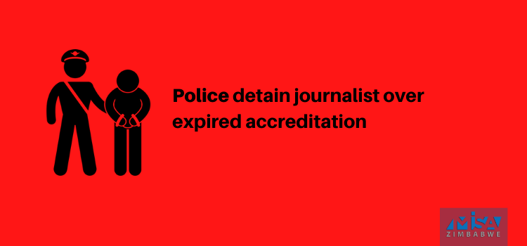 Police detain journalist over expired accreditation