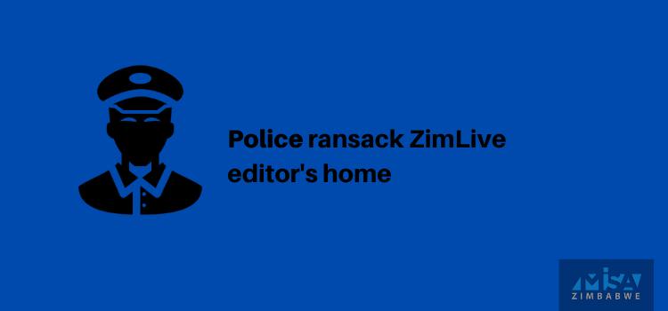 Police ransack ZimLive editor's home