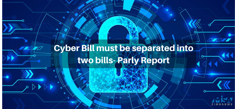 Cyber Bill must be separated into two bills- Parly Report