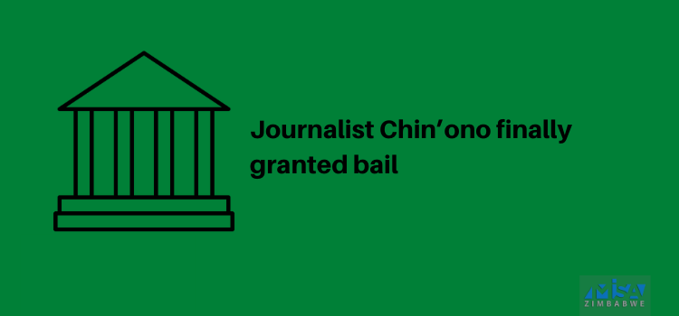 Journalist Chin'ono finally granted bail