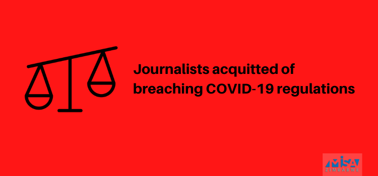 Journalists acquitted of breaching COVID-19 regulations