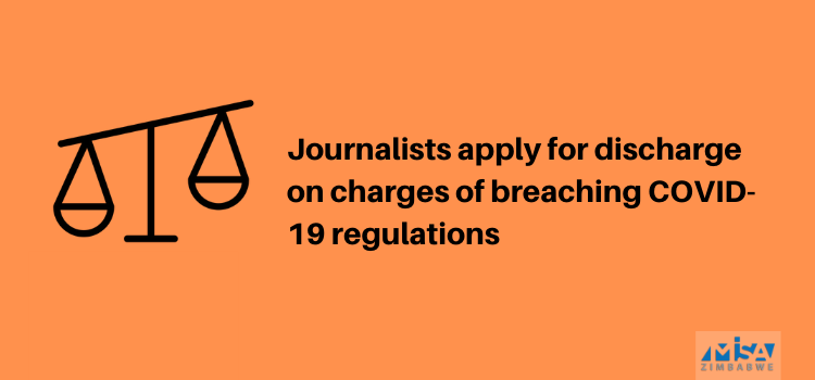 Journalists apply for discharge on charges of breaching COVID-19 regulations