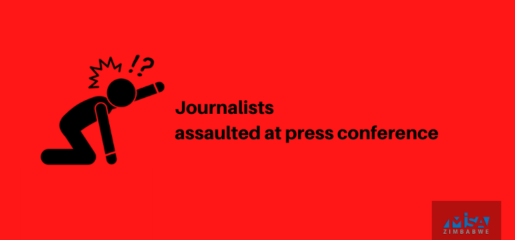 Journalists assaulted at press conference