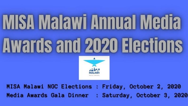 Update on MISA Malawi Annual Media Awards and 2020 Elections