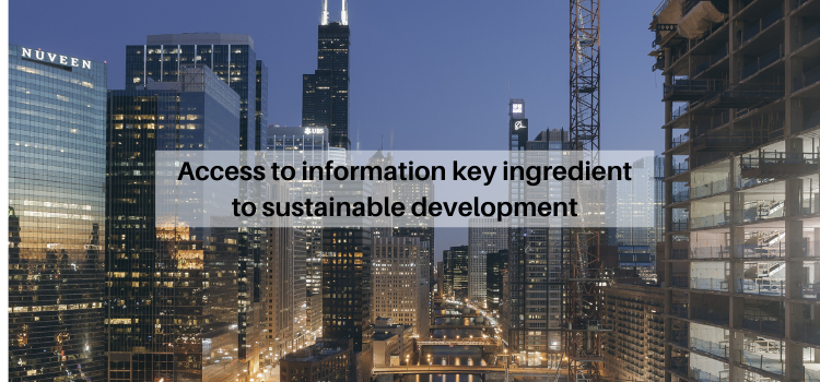 Access to information key ingredient to sustainable development