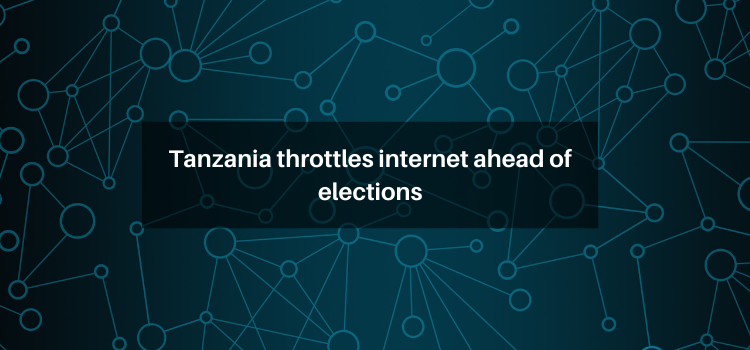 Tanzania throttles internet ahead of elections