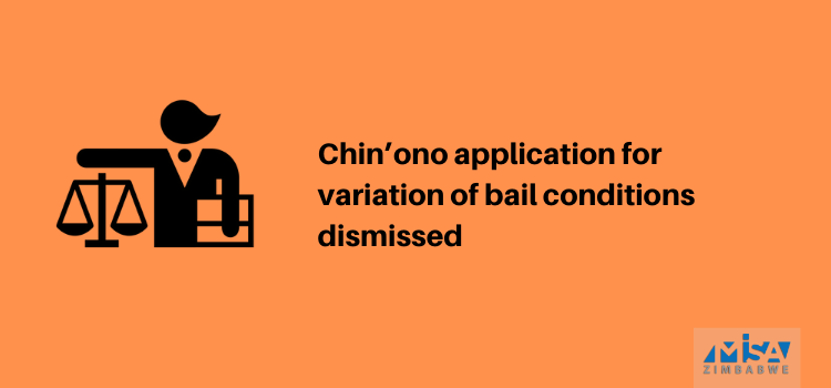 Chin'ono application for variation of bail conditions dismissed