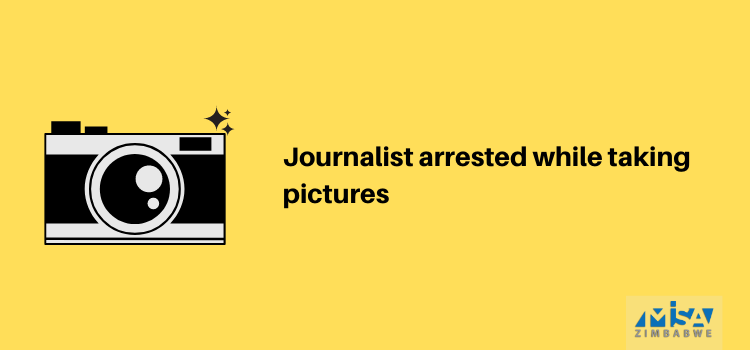 Journalist arrested while taking pictures