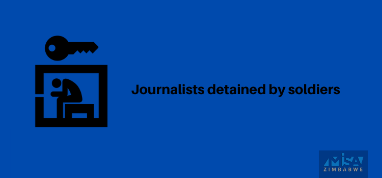 Journalists detained by soldiers