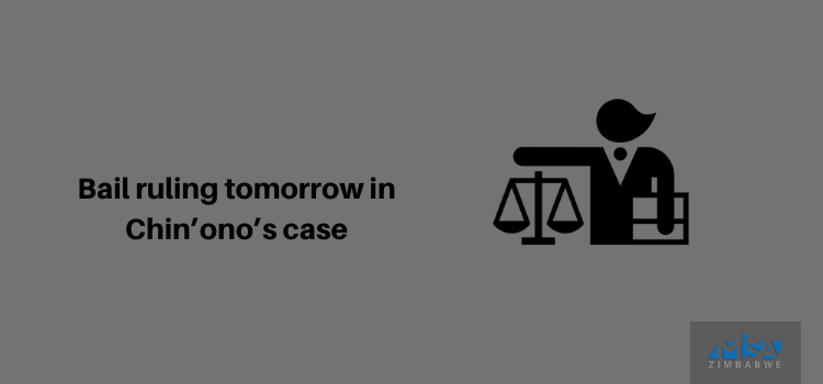 Bail ruling tomorrow in Chin'ono's case