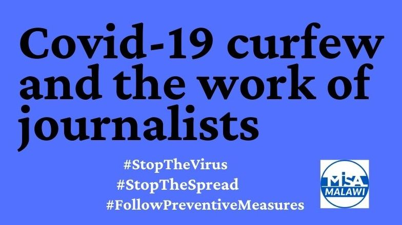 Covid-19 curfew and the work of journalists