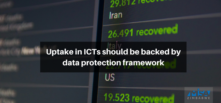 Uptake in ICTs should be backed by data protection framework