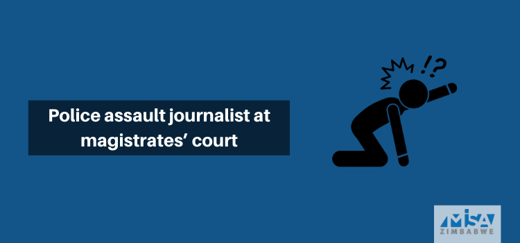 Police assault journalist at magistrates' court