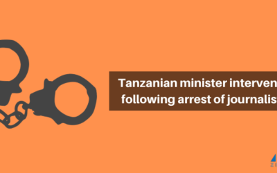 Tanzanian minister intervenes following arrest of journalists