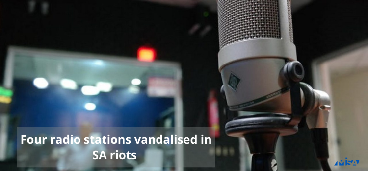 Four radio stations vandalised in SA riots