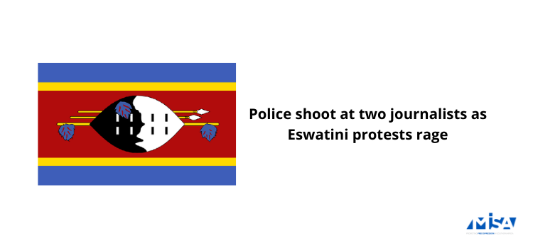 Police shoot at two journalists as Eswatini protests rage